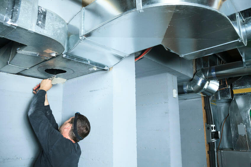 Volkman Plumbing, Heating, and Air Conditioning Air Conditioning Sheet Metal Fabrication and Ductwork Service